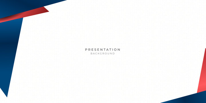 Red blue triangle abstract background for presentation design with dot pattern in white background
