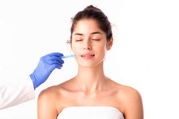 Woman at plastic surgery