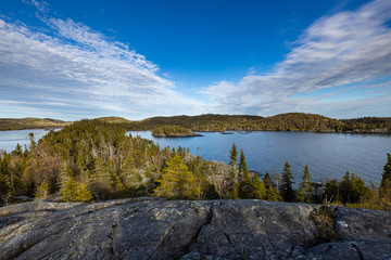Lake and Landscape of Pukaskwa Nationalpark in Canada