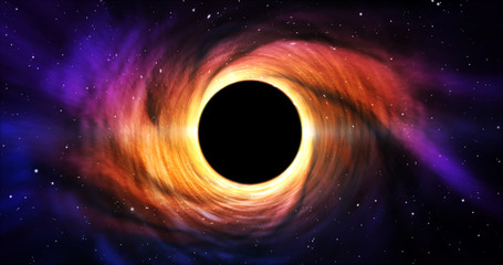 Black hole in galaxy center (space) Fotomurales