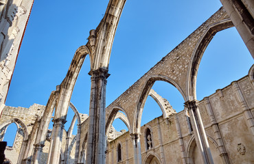 The Carmo Convent in Lisbon, Portugal.