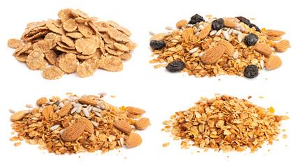 Granola and oat flakes set