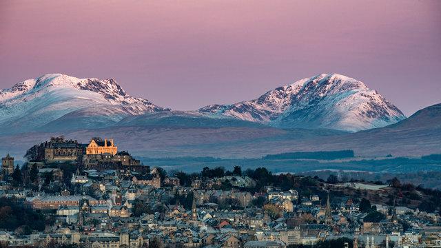Winter sunrise at Stirling Castle, Scotland