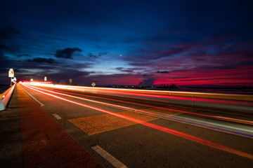 Papiers peints Autoroute nuit highway at night