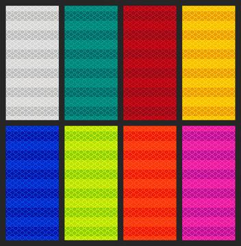 Vector illustration of Multicolore diamond grade reflective seamless pattern