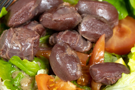 salade composée aux gésiers de volaille