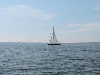 Poster de jardin Voile sailboat on the sea in Finland