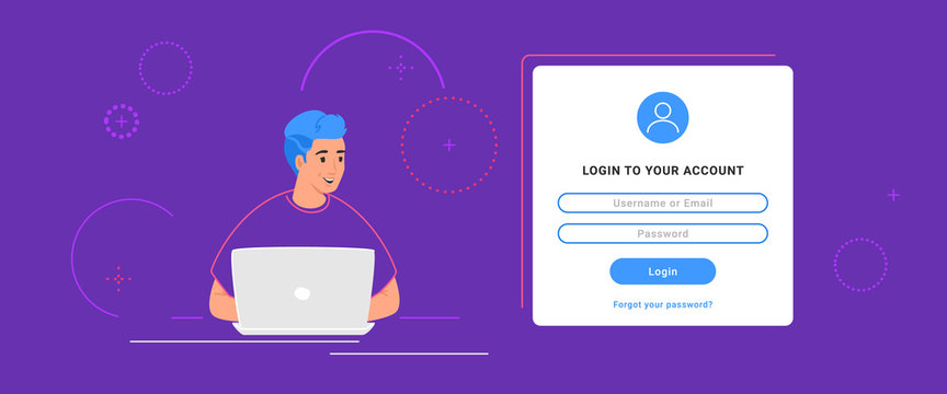 Login form and information security to social media and personal accounts