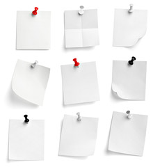 note paper push pin message red white black
