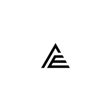 ae letter vector logo abstract