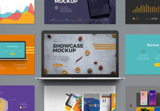 Laptop Presentation Showcase Mockup