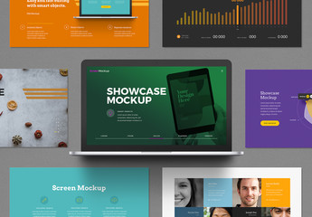 Laptop Presentation Showcase Mockup