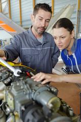 portrait of an aircraft mechanic at work