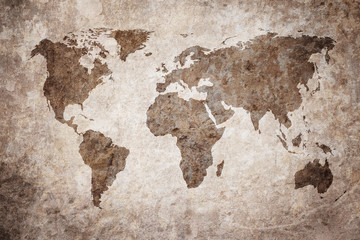 Wall Murals Northern Europe grunge map of the world