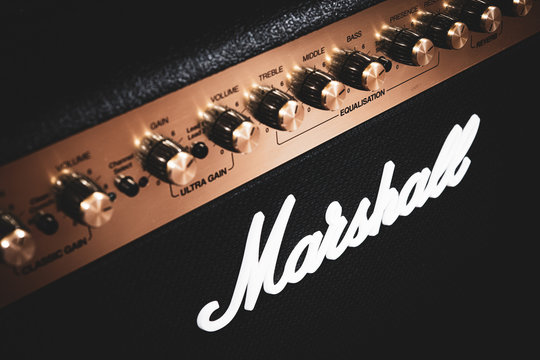 Marshall stage guitar amplifier music equipment