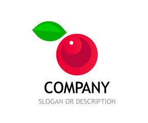 Berry Logo isolated on white background with caption and tag line.