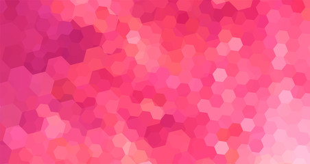 Abstract Mosaic Background Pink color with Hexagon pattern, Vector illustration.