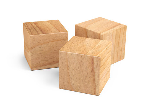 Wooden cubes for conceptual design. Education game.