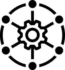 Fototapeta Multi channel icon, vector illustration obraz