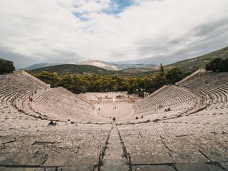 Papiers peints Blanc Théâtre d'Epidaure, Grèce