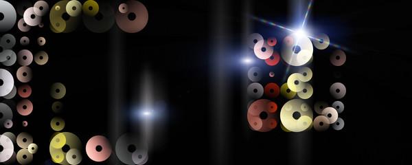 Futuristic circle panorama background design illustration with lights