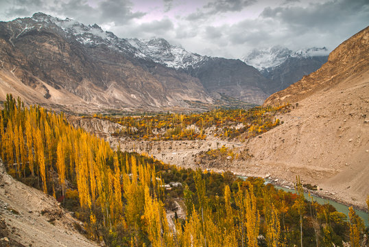 This is beautiful autumn at Northern Pakistan