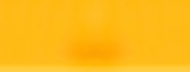 Smooth simple yellow gradient yellow abstract banner bakground