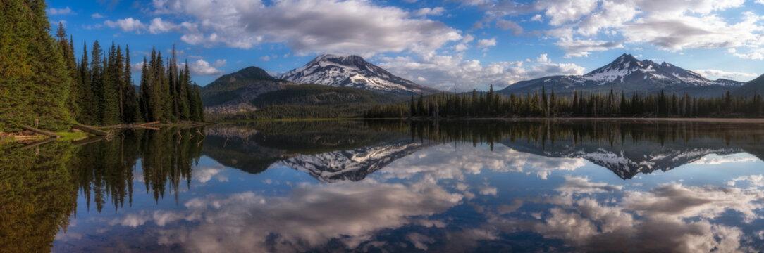 Mountain Panorama at Sparks Lake - Oregon