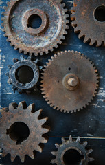 gears on black background