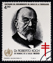 Dr. Robert Koch and Cross of Lorraine, Discovery of Tubercle Bacillus (Mexico 1982)