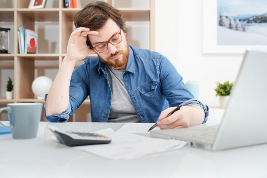 Paying off debts banking and financial problems concept