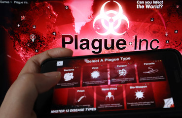 "Illustration picture of strategy simulation app ""Plague Inc.\"
