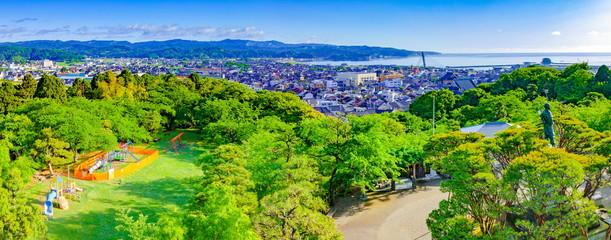 Photo sur Aluminium Vert chaux 朝日山公園からの眺め、富山県氷見市にて