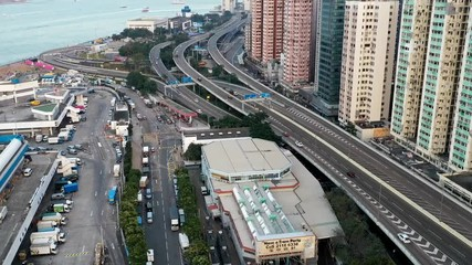 Fotomurales - Aerial view of city in daytime - Hong Kong