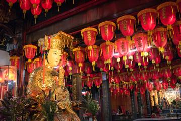 Cixian Temple in Shilin Night Market, Taipei, Taiwan 士林夜市の道教寺院 士林慈誠宮(台湾・台北)