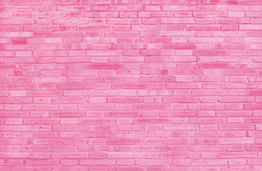Pink brick wall texture with vintage style pattern for background and desing art work.