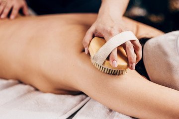 Dry brush massage - the essence of such brushing in the mechanical effect on the epidermis - the...