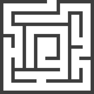 Square maze on white