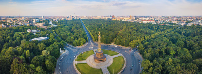 Wall Murals Berlin Great Berlin panorama - Victory Column with a view of the city