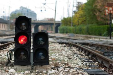 Traffic light shows red signal Fototapete