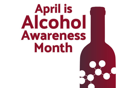 April is Alcohol Awareness Month concept. Template for background, banner, card, poster with text inscription. Vector EPS10 illustration.