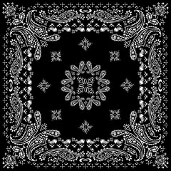 Paisley textile pattern vector illustration for bandana , scarf etc.