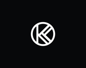 Creative and Minimalist Letter K KK Logo Design Icon, Editable in Vector Format in Black and White Color