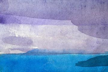 Printed roller blinds Fantasy Landscape beautiful blue background