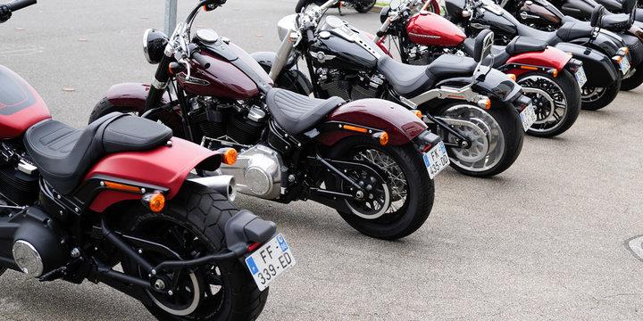 Harley Davidson several second-hand shop motorbike dealership store brand