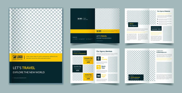 Travel 8 page brochure template