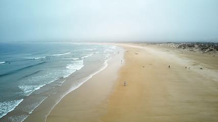 North Beach in Nazare Portugal Fototapete