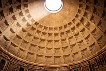 The dome of the Pantheon in Rome, in Piazza della Rotonda Fotomurales