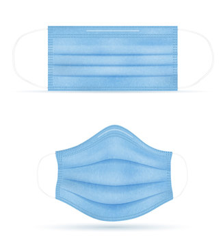 medical mask for protection against diseases and infections transmitted by airborne droplets vector illustration