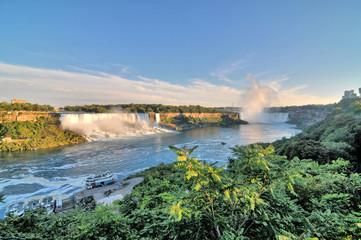 Niagara – wodospad na rzece Niagara, na granicy Kanady, prowincja Ontario i USA, stan Nowy Jork.